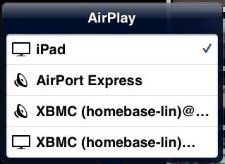 AirPlay Menu